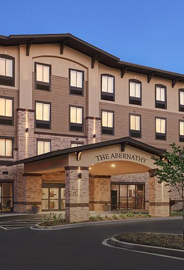 The Abernathy hotel entrance