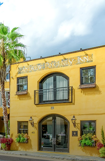 Yellow building for Andrew Pinckney Inn