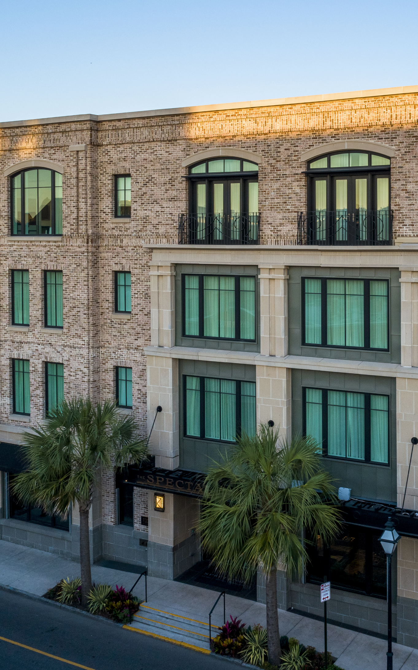 The spector brick hotel building