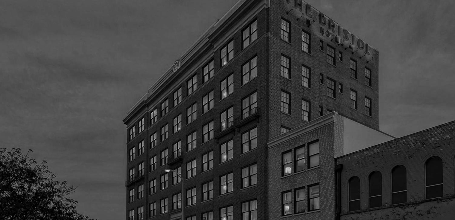 Brick Bristol hotel building